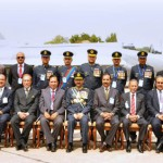 Pakistan Airforce Staff Photo in front of JF-17 Thunder at A5 replacement ceremony